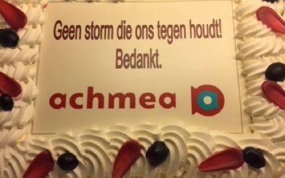 Bedankje Achmea