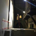 Start van het plaatsen van de stalen hoofdtrappen Christus Koning Kerk-4